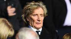 Rod Stewart attends the UEFA Champions League Group