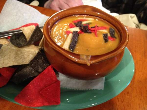 Sweet potato chipotle soup at Sombrero's