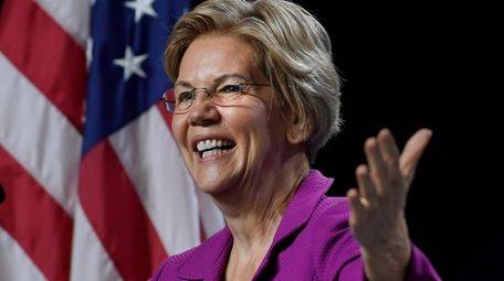 Democratic presidential candidate Sen. Elizabeth Warren speaks during
