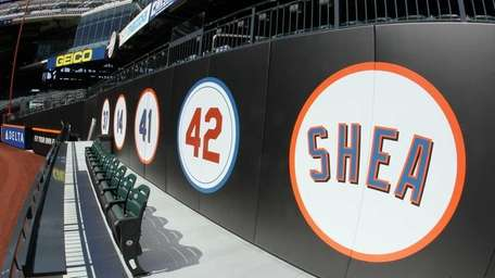 The new left field seats are seen at