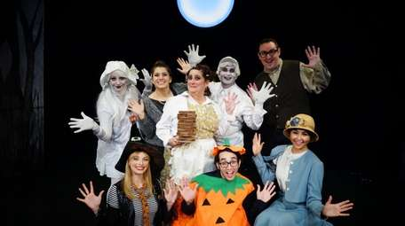 """The cast of """"A Kooky Spooky Halloween"""" at"""