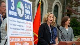 Nassau officials on Monday announced a gun buyback