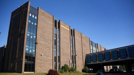 The exterior of Hempstead High School as seen