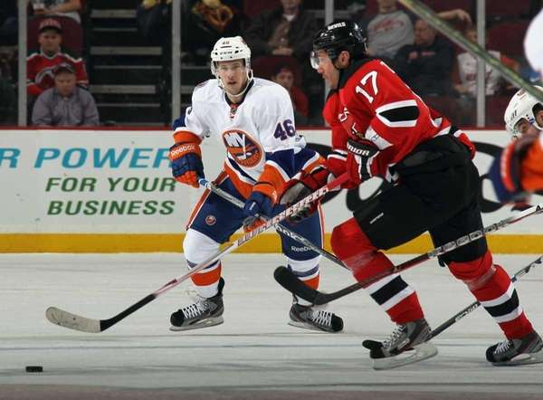Matt Donovan of the Islanders skates in his