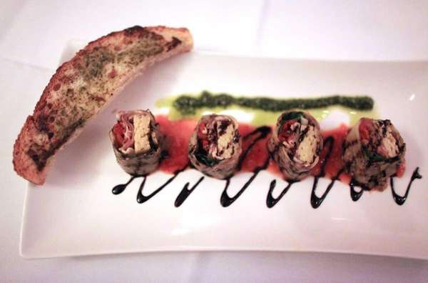 The quot;Italian sushiquot; appetizer, at Andiamo restaurant in