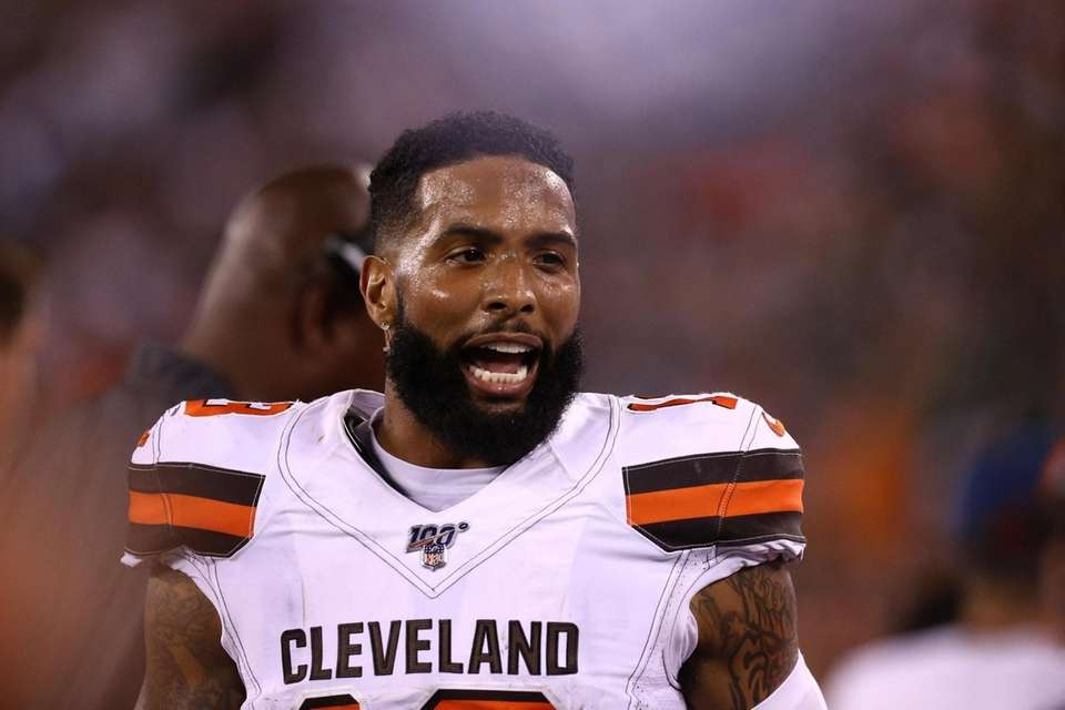 Odell Beckham #13 of the Cleveland Browns looks