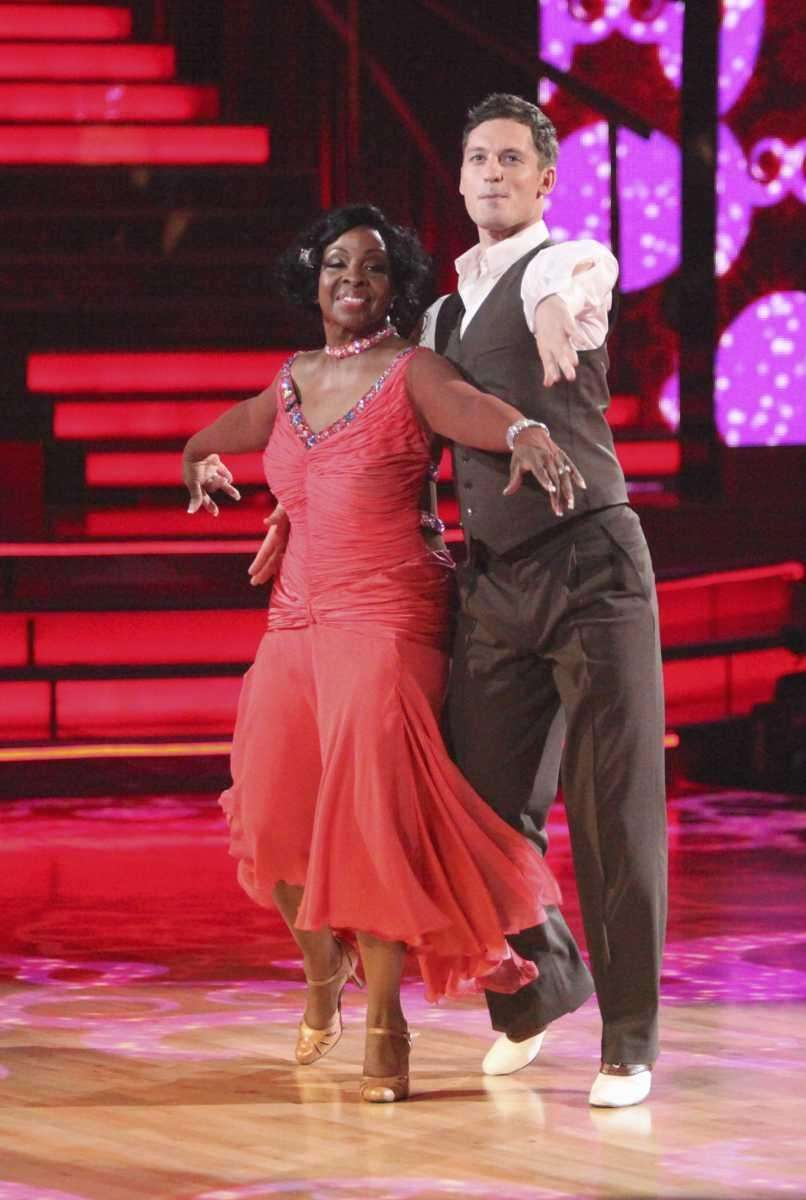 Gladys Knight, left, and her partner Tristan MacManus