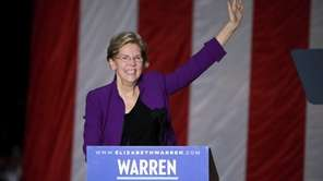 Democratic presidential candidate Sen. Elizabeth Warren, ata rally