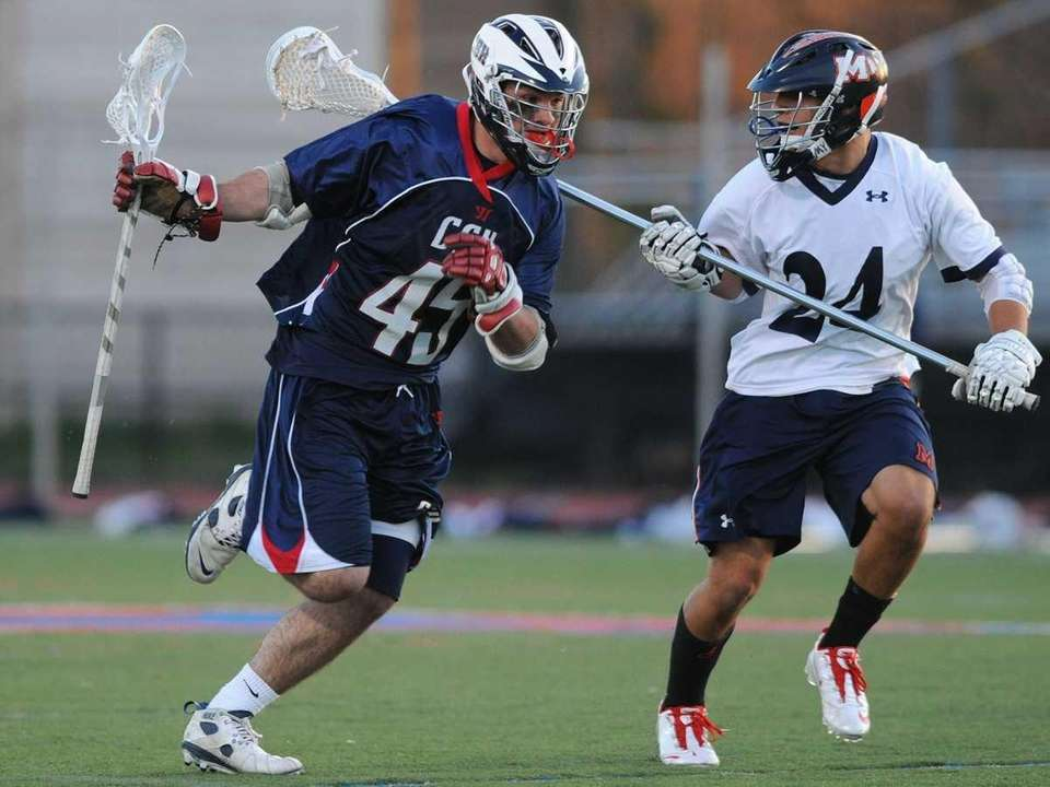 Cold Spring Harbor High School midfielder #45 Kevin