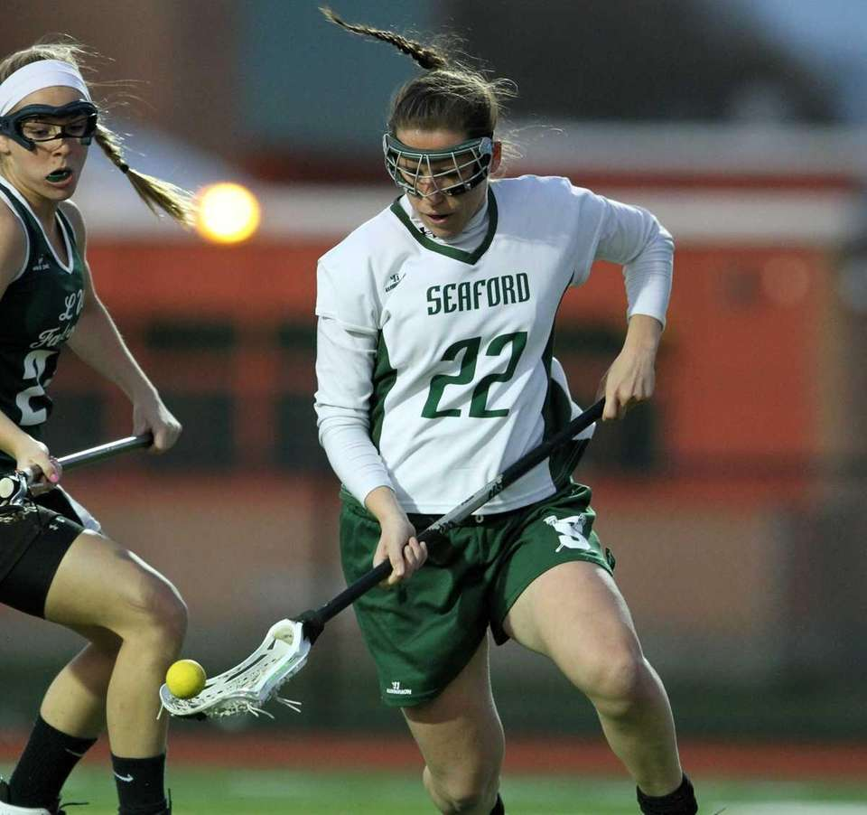 Seaford's Amelia Taylor controls the ball. (April 4,