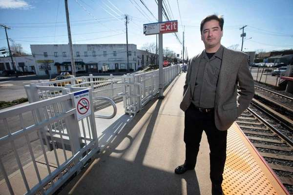 Developer Anthony Bartone stands on the platform of