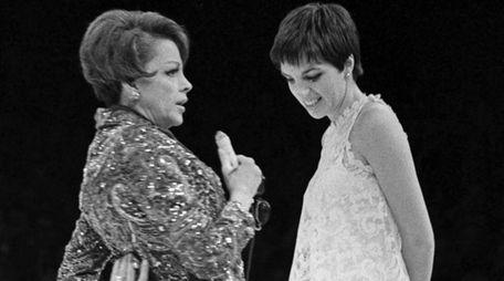 Judy Garland and Liza Minnelli perform at Westbury
