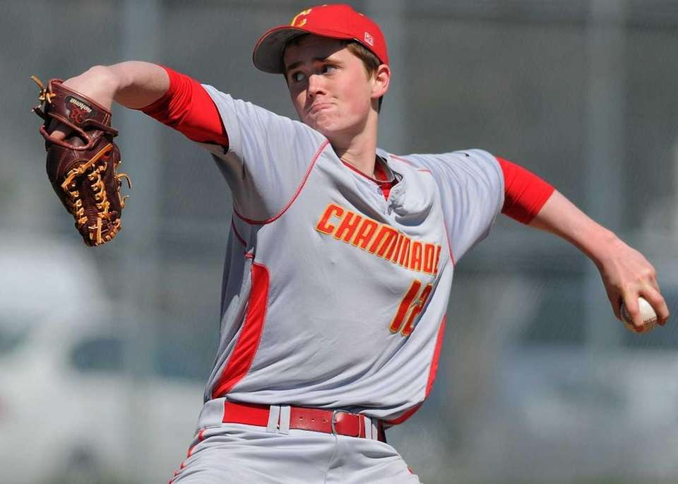 Chaminade southpaw #12 Shane McDonald pitches in relief