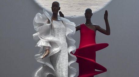 Installation view, Pierre Cardin: Future Fashion, Brooklyn Museum,