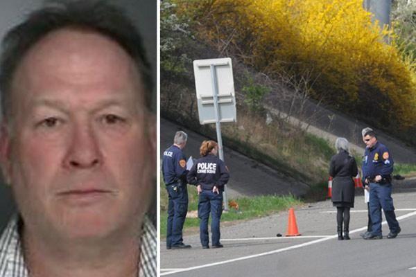 Craig Brackley Perkins, left, surrendered to police on