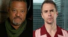 Laurence Fishburne, left, and Sam Rockwell, pictured in