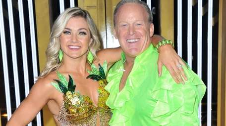 "Sean Spicer with his ""Dancing with the Stars"""