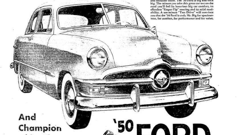 This 1950 Ford ad boats not only