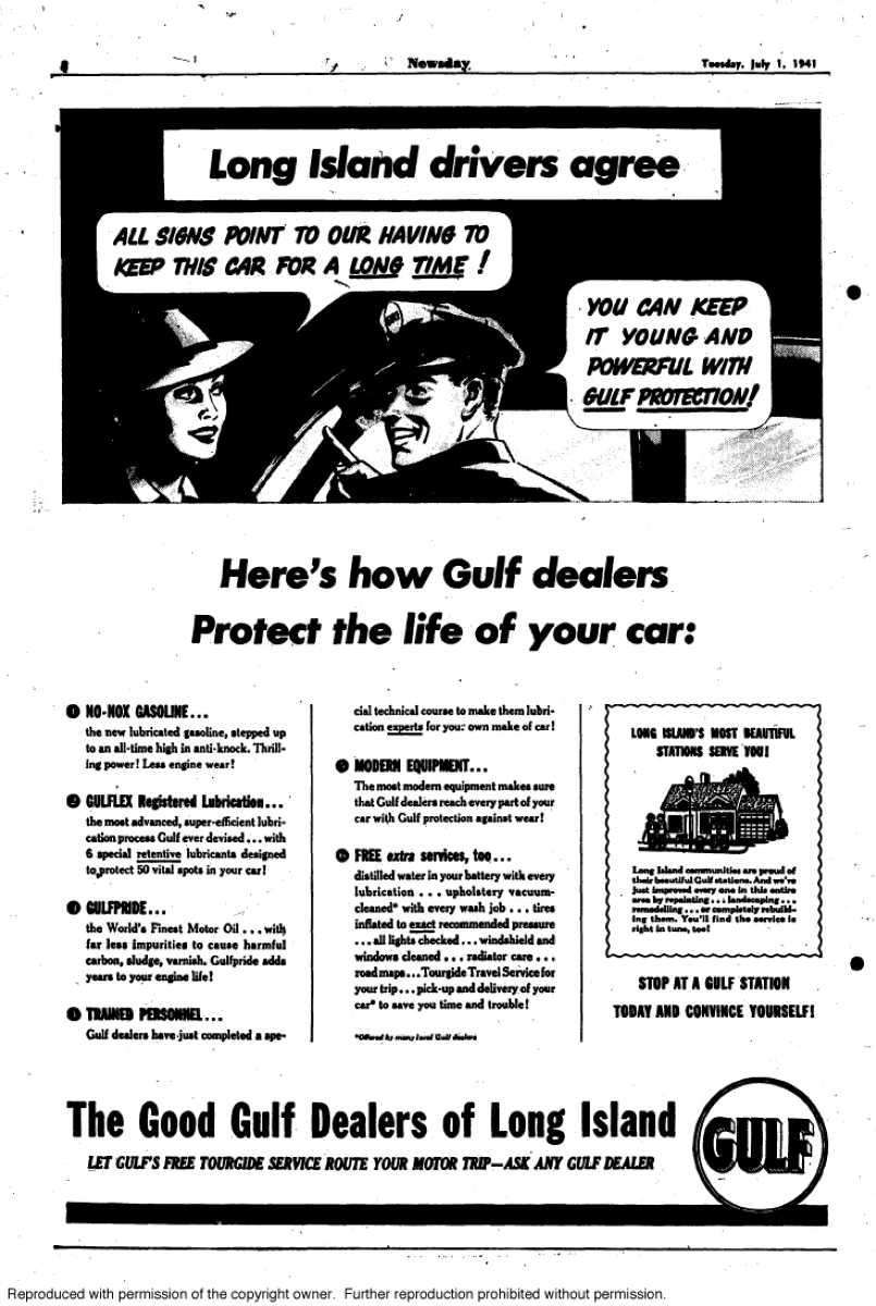 This 1941 Gulf ad claims: