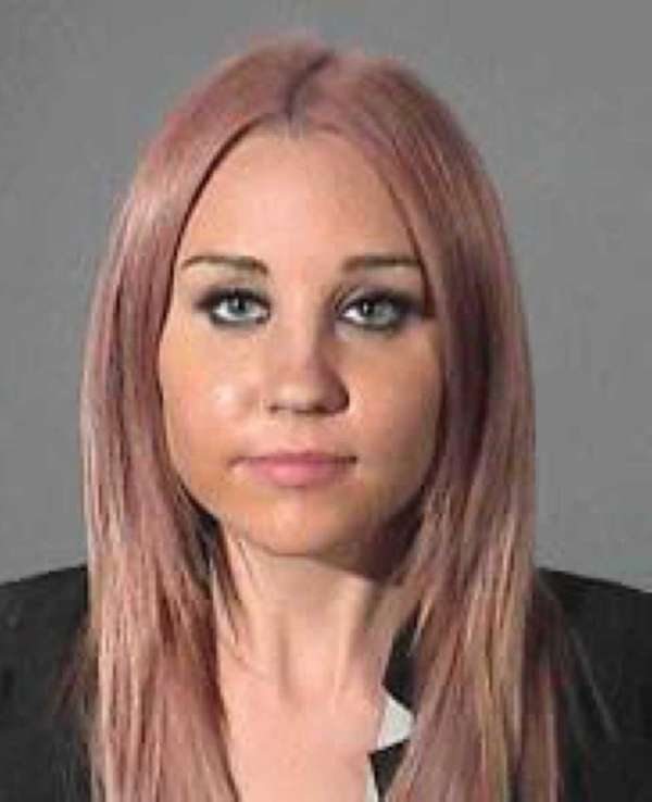 Amanda Bynes, 26, in a police booking photo