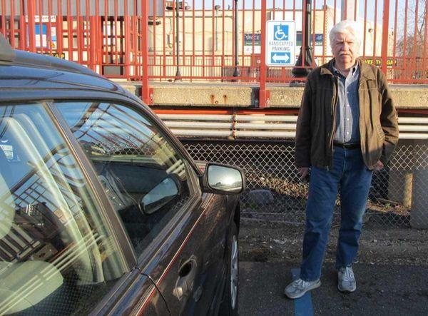 Gary Drury at one of three Syosset LIRR