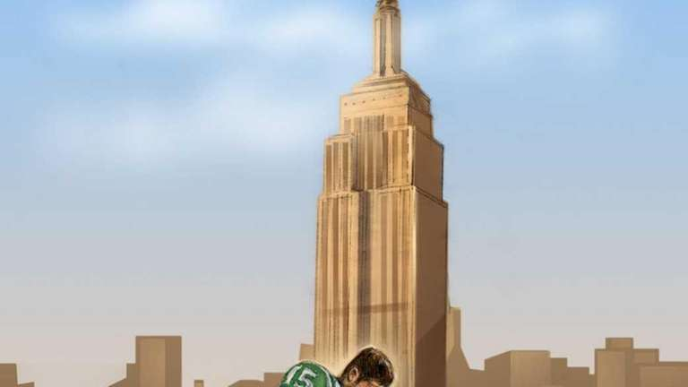 Tim Tebow in New York by artist Janet