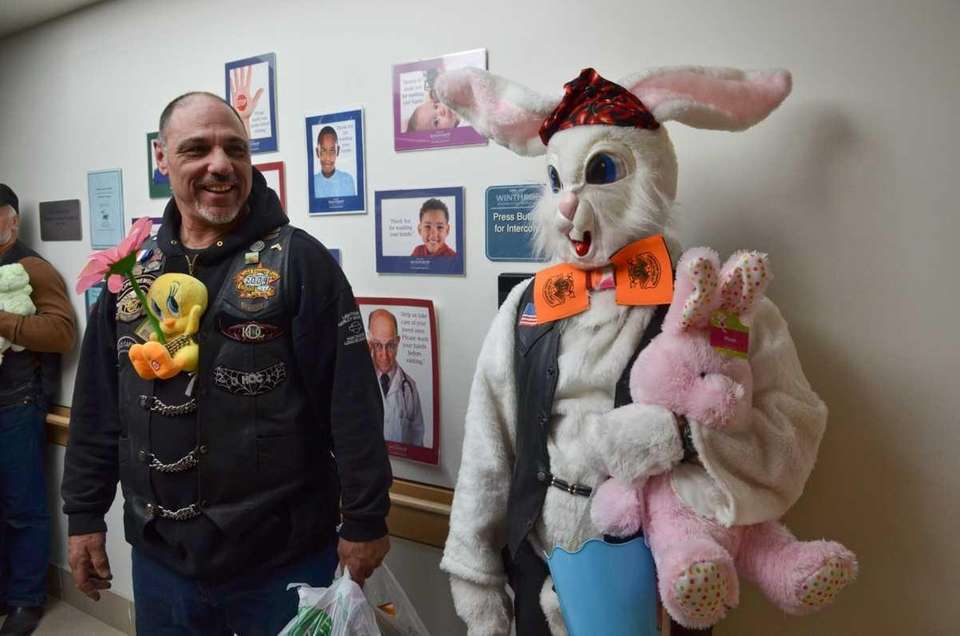 Ready to hand out Easter candy and toys,