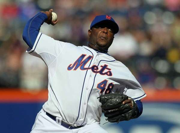 Frank Francisco pitches during the ninth inning of