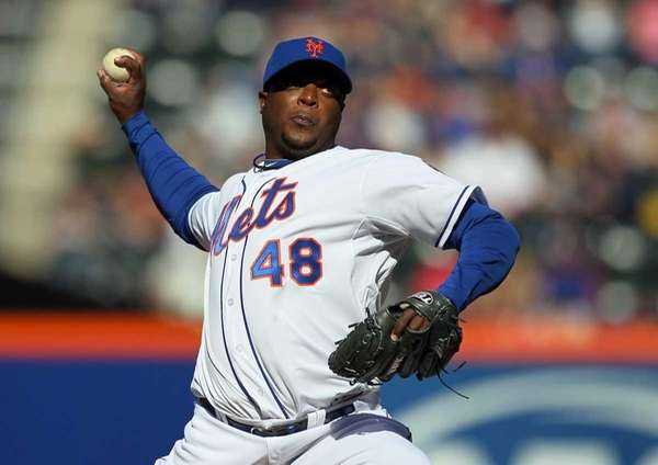 Frank Francisco #48 of the New York Mets