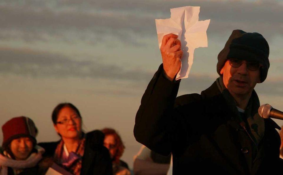 Rev. Adrian Pratt delivers a sermon on the