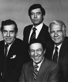 "The ""60 Minutes"" cast in 1978: Morley Safer,"