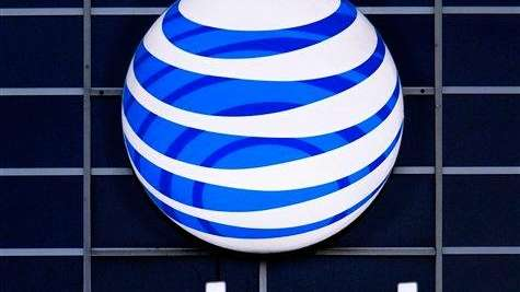 A file photo of the AT&T logo.
