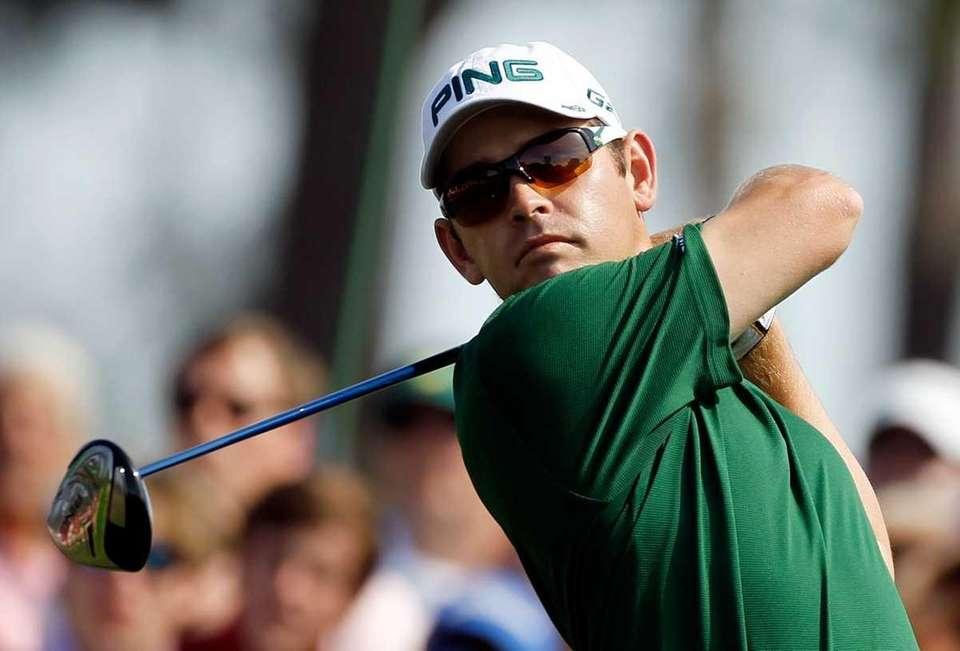 Louis Oosthuizen of South Africa drives during the