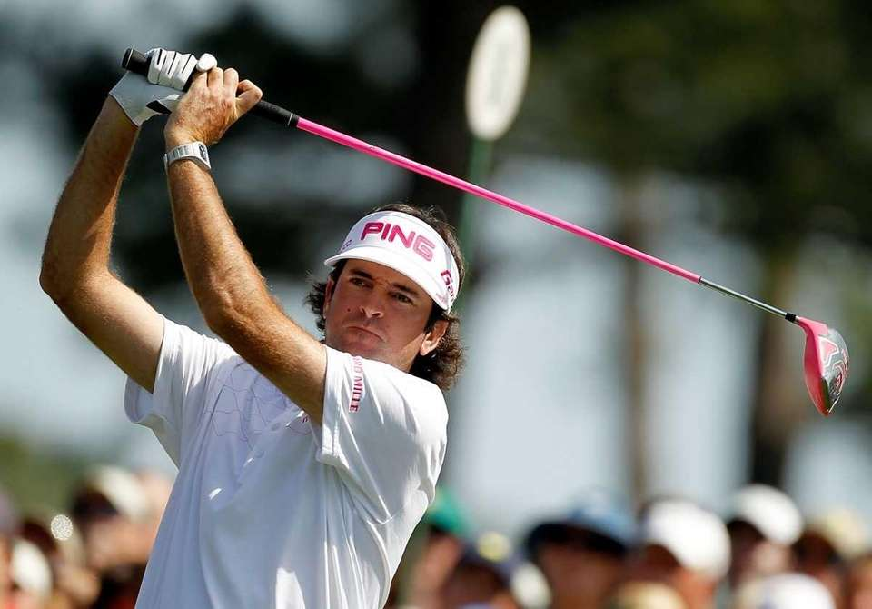 Bubba Watson of the United States drives during