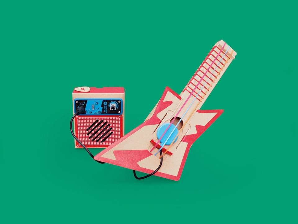 Build a cardboard guitar and then make it