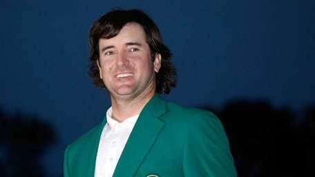 Bubba Watson of the United States smiles during