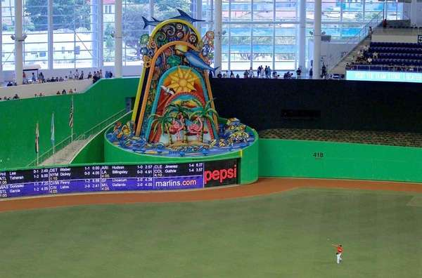 A general view of the new Miami Marlins