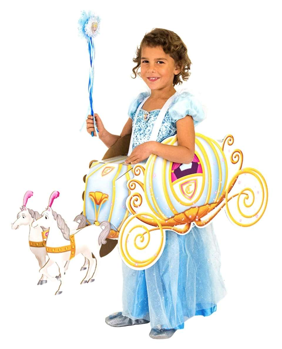 Kids can adorn their costume with the Cinderella