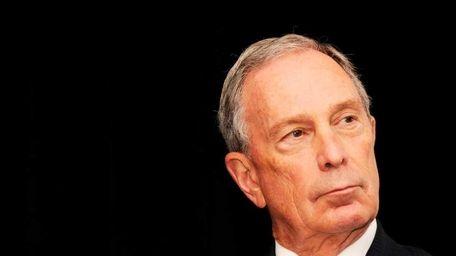 New York Mayor Michael Bloomberg in New York