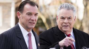 Reps. Thomas Suozzi (D-Glen Cove) and Peter King