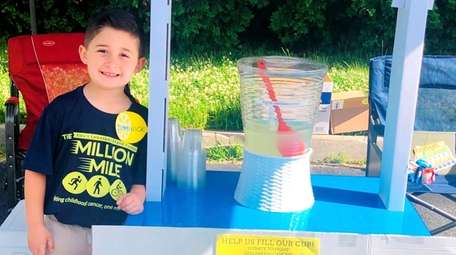 Dominick Chiuchiolo, a second-grader at Tackan Elementary School,