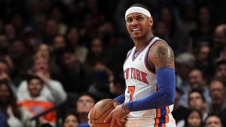 Carmelo Anthony in action against the Milwaukee Bucks