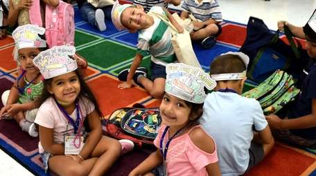 Kindergartners kicked off the first of school by