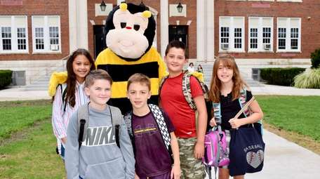 Students at Floral Park-Bellerose School were greeted by