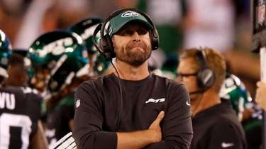 Head coach Adam Gase of the Jets looks
