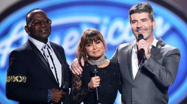 "Former ""American Idol"" judges Randy Jackson, left, Paula"