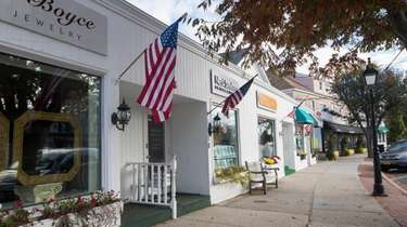 Shops along Main Street in Westhampton Beach on
