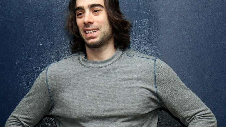 Matt Moulson talks to reporters as the Islanders