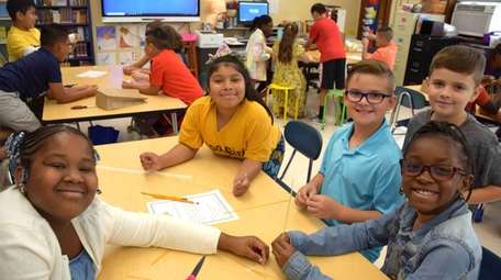 Students started the school year by building towers