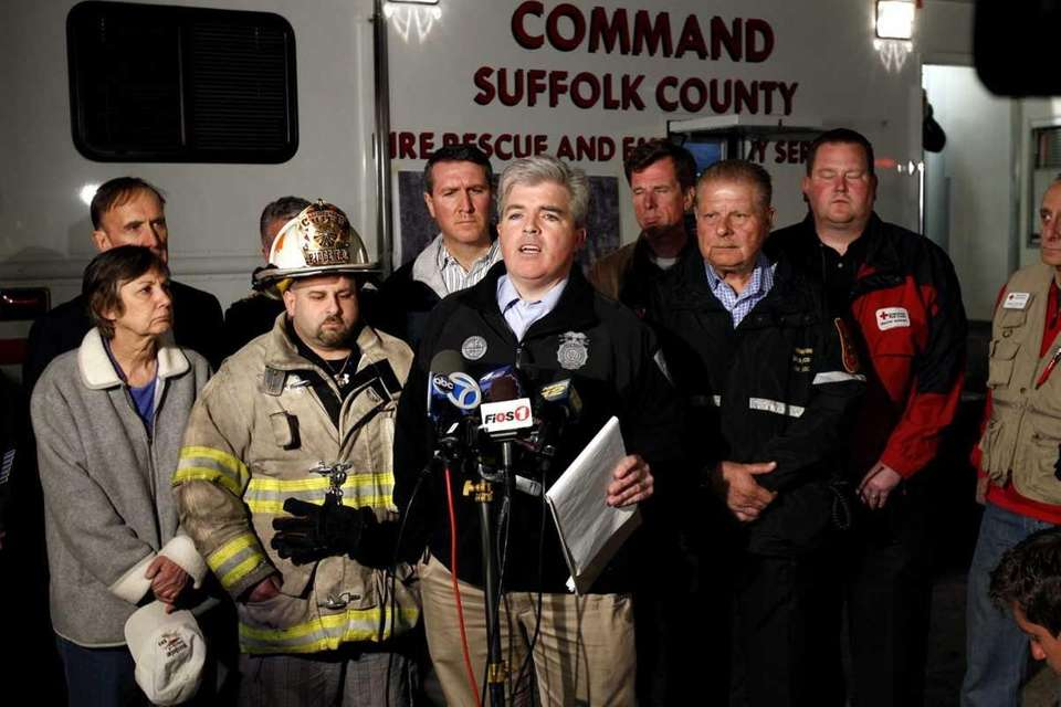 Suffolk County Executive Steve Bellone speaks on the